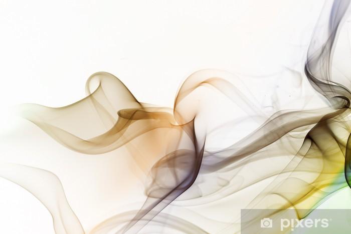 Naklejka Pixerstick Abstrakcyjna kolorowym tle dymu - Tematy