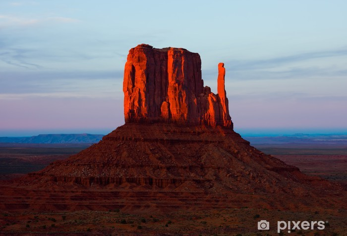 Papier peint vinyle Monument Valley au coucher du soleil - Amérique