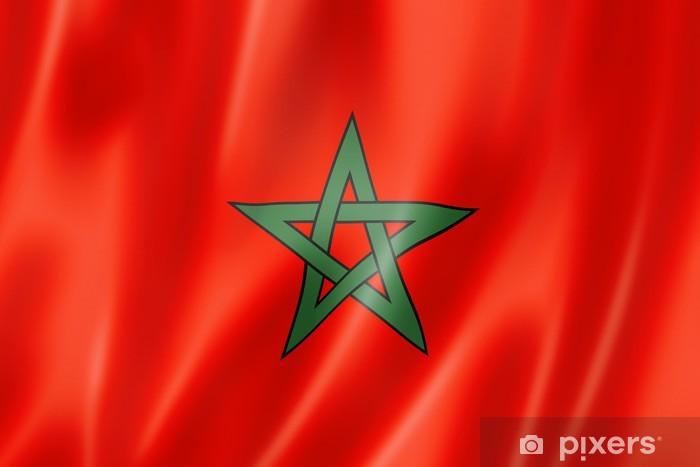 fotobehang marokkaanse vlag pixers 174 we leven om te
