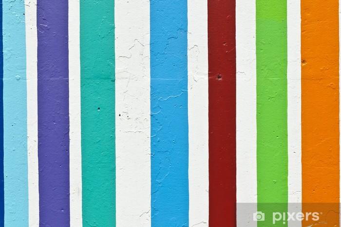 Papier Peint Bandes De Couleur Sur Le Mur