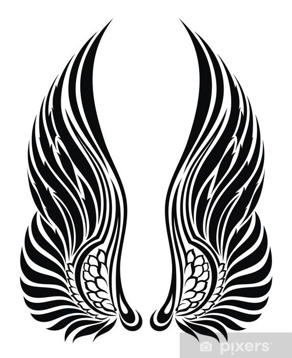 Adesivo Ali D Angelo Isolato Su Disegno White Tattoo Pixers