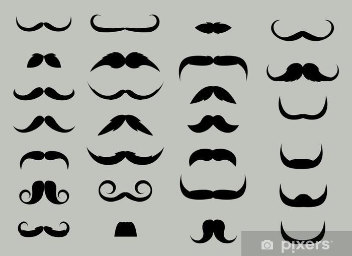 Naklejka Pixerstick Set Moustache - Wąsy