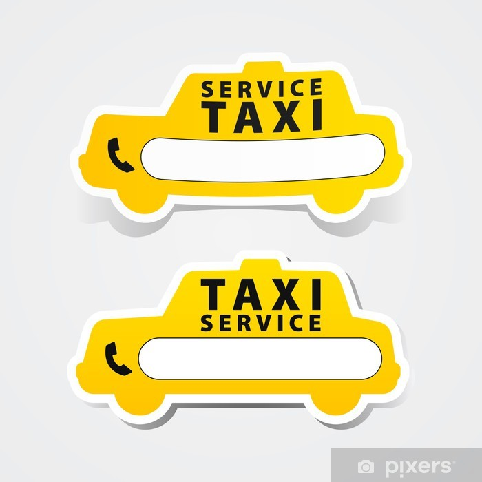 Taxi service sticker. Poster - Signs and Symbols