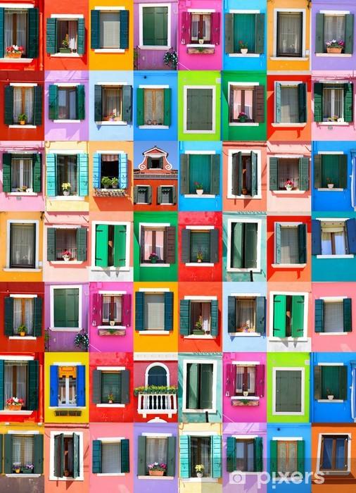 Fototapeta winylowa Kolory Burano - Wenecja - Włochy - Miasta europejskie