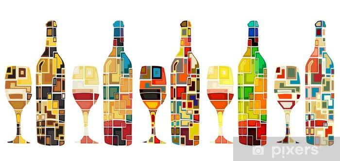 Fototapeta winylowa Abstract kolekcja wina - Naklejki na ścianę