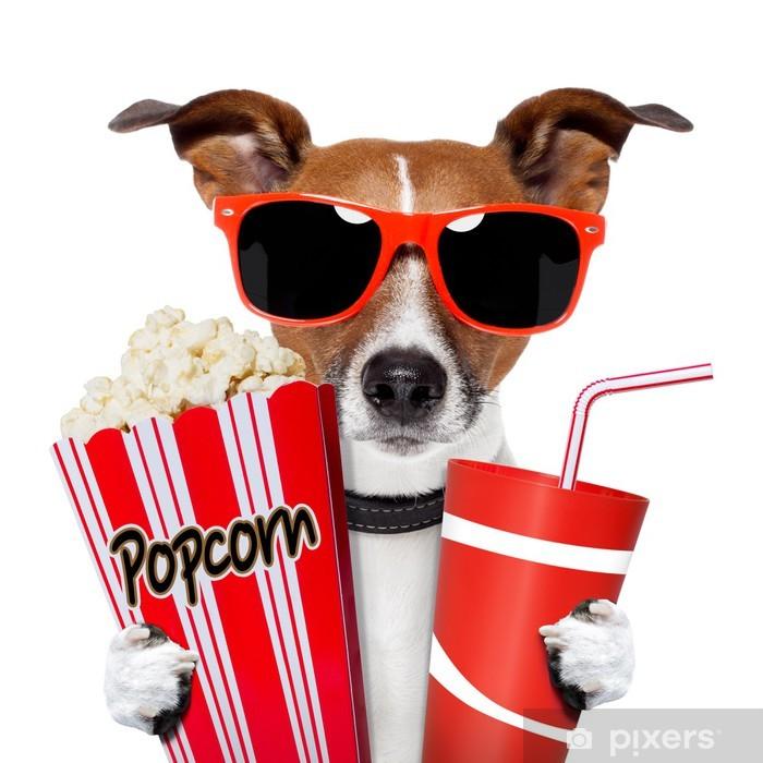 Naklejka Pixerstick Pies oglądania filmu - Naklejki na ścianę