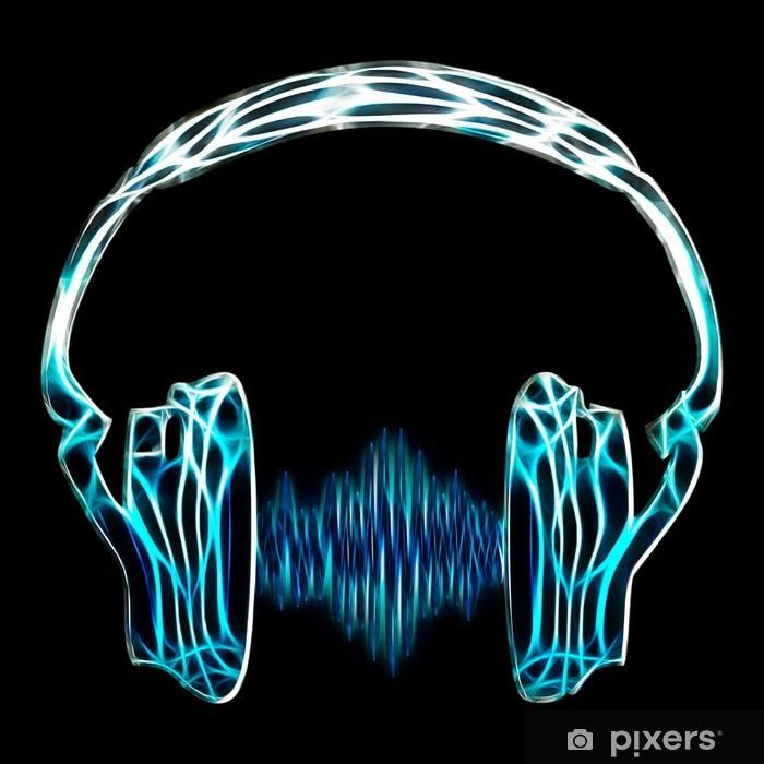 Fototapeta winylowa Muzyka słuchawki wave - Muzyka