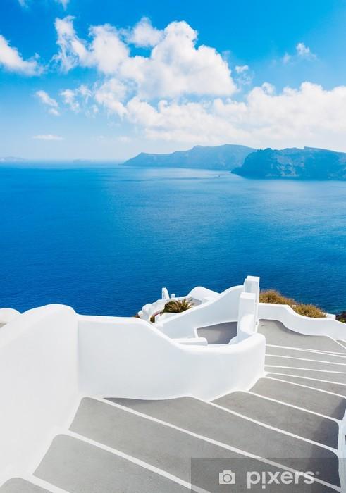 Papier peint vinyle L'île de Santorin en Grèce - Thèmes