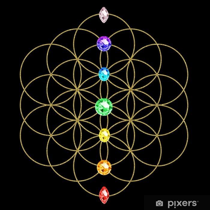 Papier peint vinyle Chakra - Blume des Lebens - Energie Symbole - iStaging