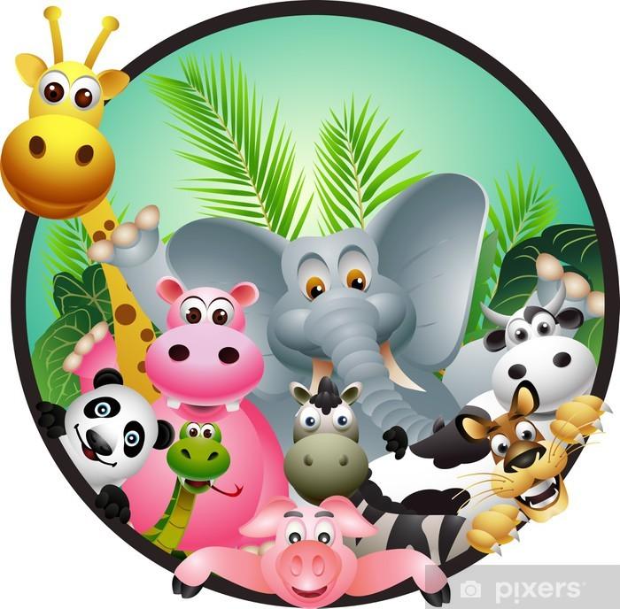 Sticker Pixerstick Animal cartoon - Sticker mural