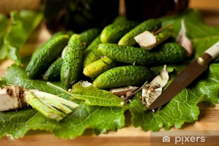 Fototapeta winylowa Ogórki,małosolne,ogórek,zielony,małosolny - Tematy