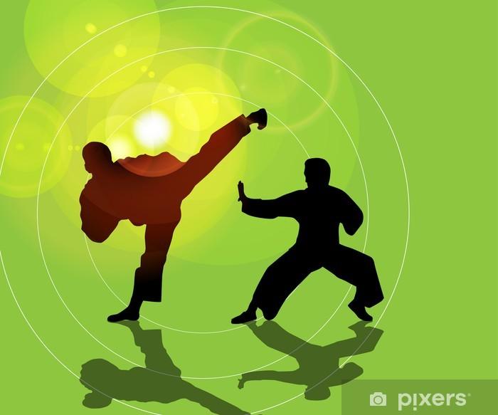 Vinyl-Fototapete Illustration des Karate - Themen