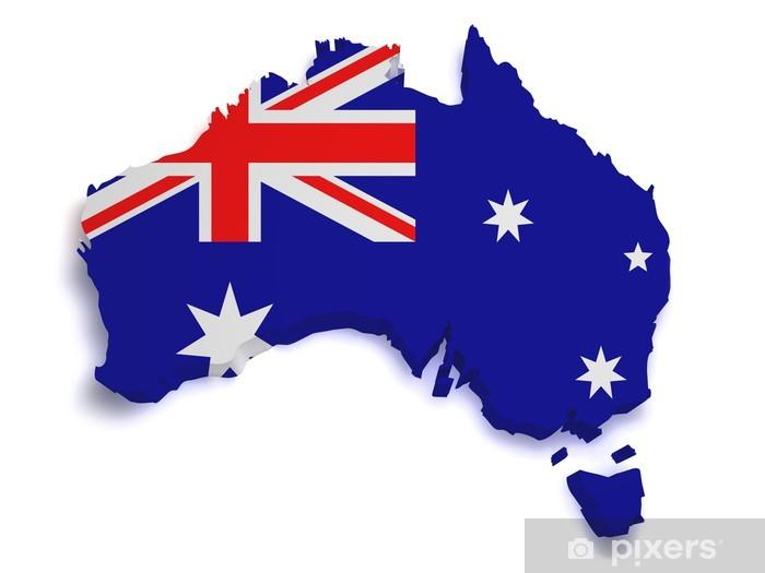 Australia Map Shape.Australia Map 3d Shape Wall Mural Pixers We Live To Change