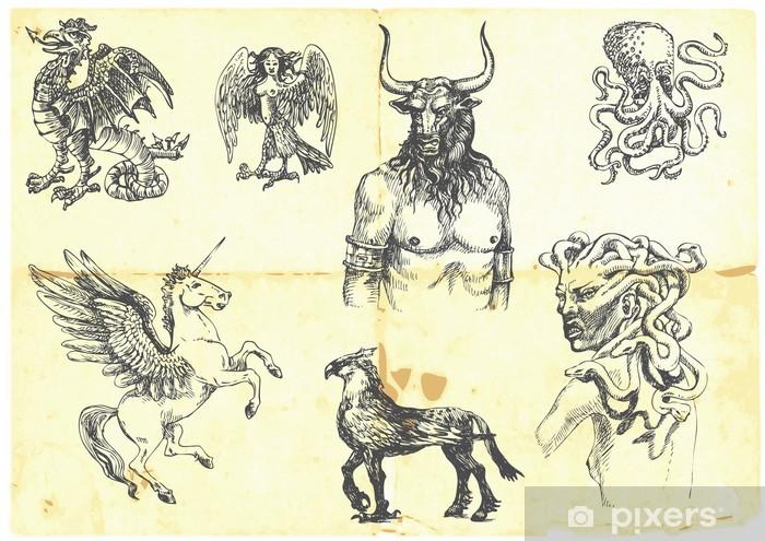 Fototapeta winylowa Mistycznych stworzeń. według starożytnych mitów greckich. - Fikcyjne zwierzęta