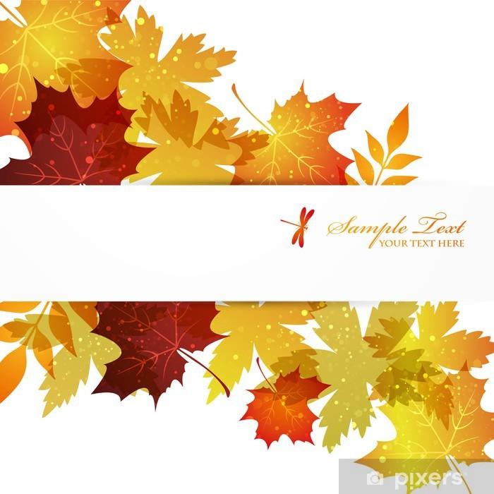 Vinyl-Fototapete Maple Hintergrund - Jahreszeiten