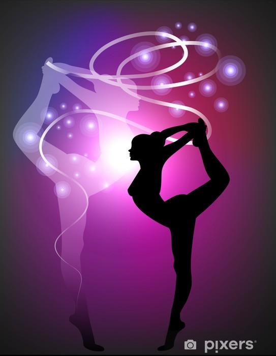 Fototapeta winylowa Gimnastyka artystyczna - Ribbon - Przeznaczenia