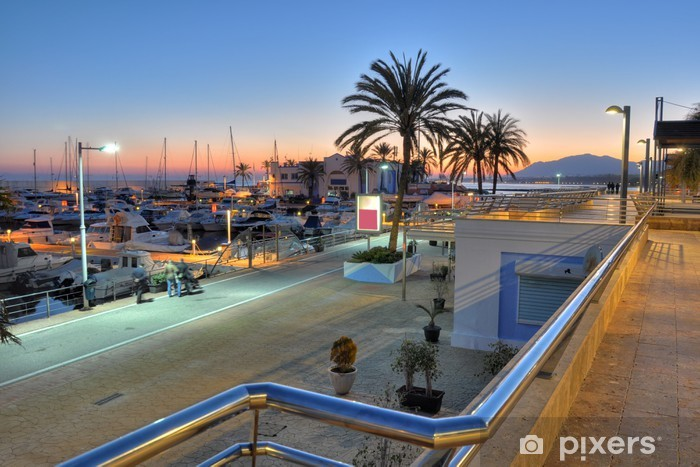 Naklejka Pixerstick Port Marbella, Costa del Sol, Hiszpania - Tematy