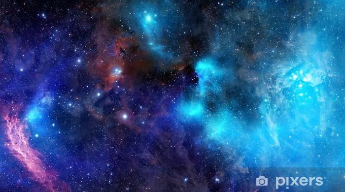 Naklejka Pixerstick Obłok gazu mgławica w głębokiej przestrzeni kosmicznej - Style