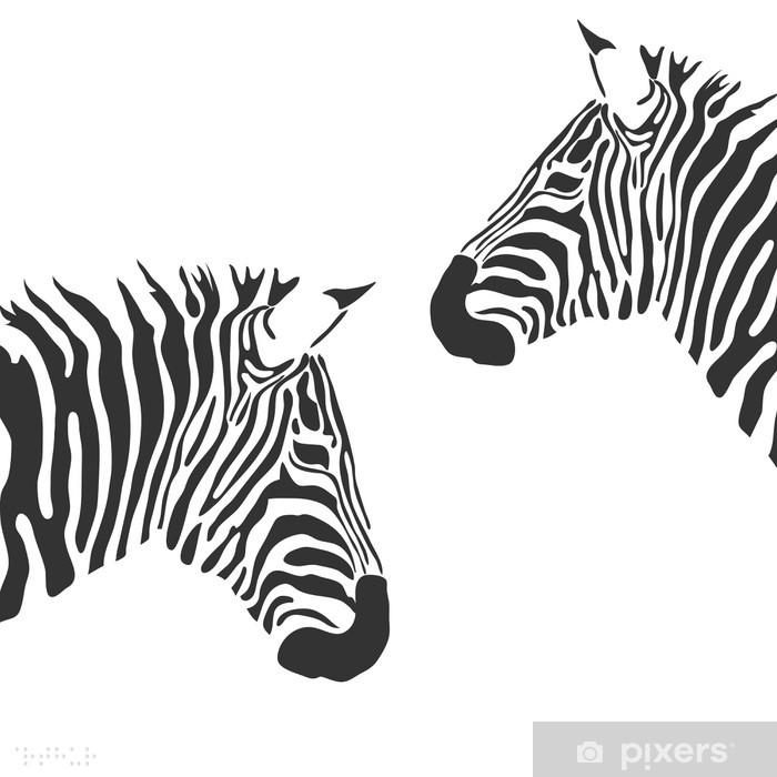 Naklejka Pixerstick Wektor zebra - Naklejki na ścianę
