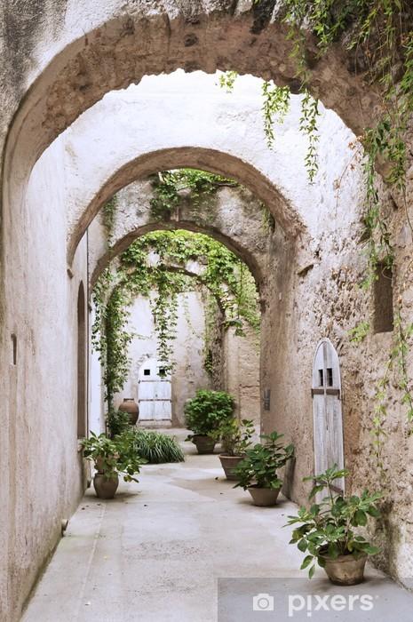 Afwasbaar Fotobehang Oude arcade in het kasteel - Thema's