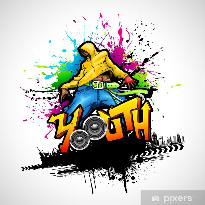 Dancing Youth Vinyl Wall Mural -