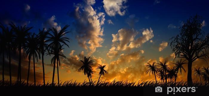Fototapeta winylowa Nocny krajobraz - Niebo