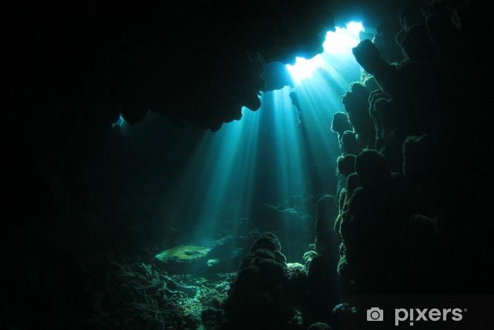 Pixerstick Dekor Solljus i undervattensgrotta - Teman