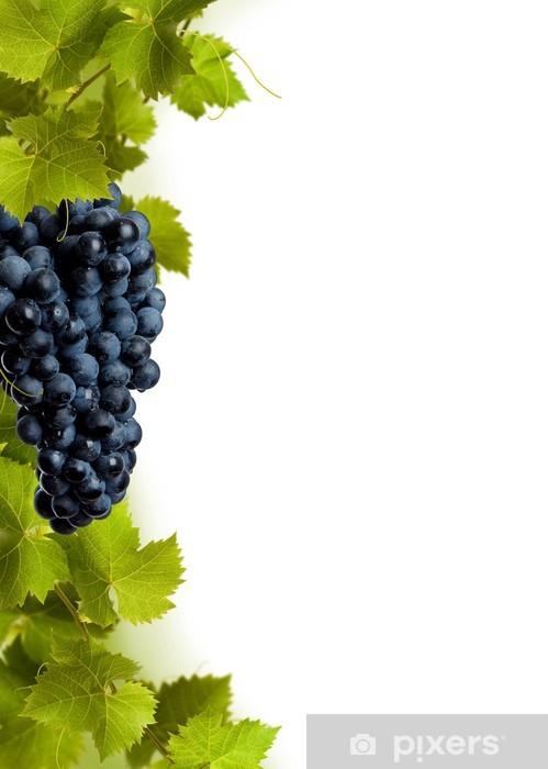 Naklejka Pixerstick Kolaż z liści winogron i moszczu niebieskim - Rośliny