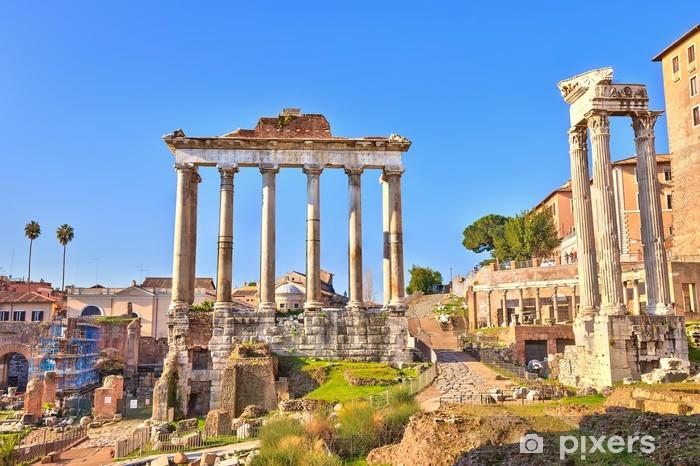 Vinyl-Fototapete Römischen Ruinen in Rom, Forum - Themen
