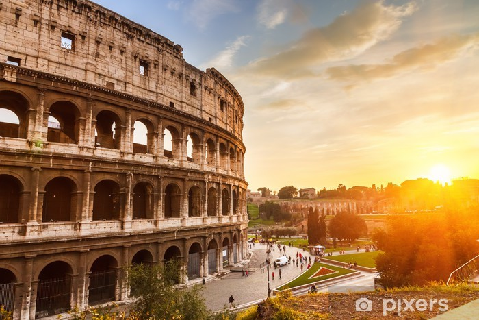 Coliseum at sunset Vinyl Wall Mural - Italy