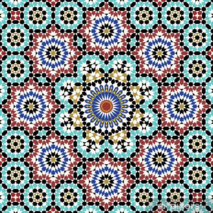 Papier peint vinyle Anvar mauresque modèle - Mosaïque