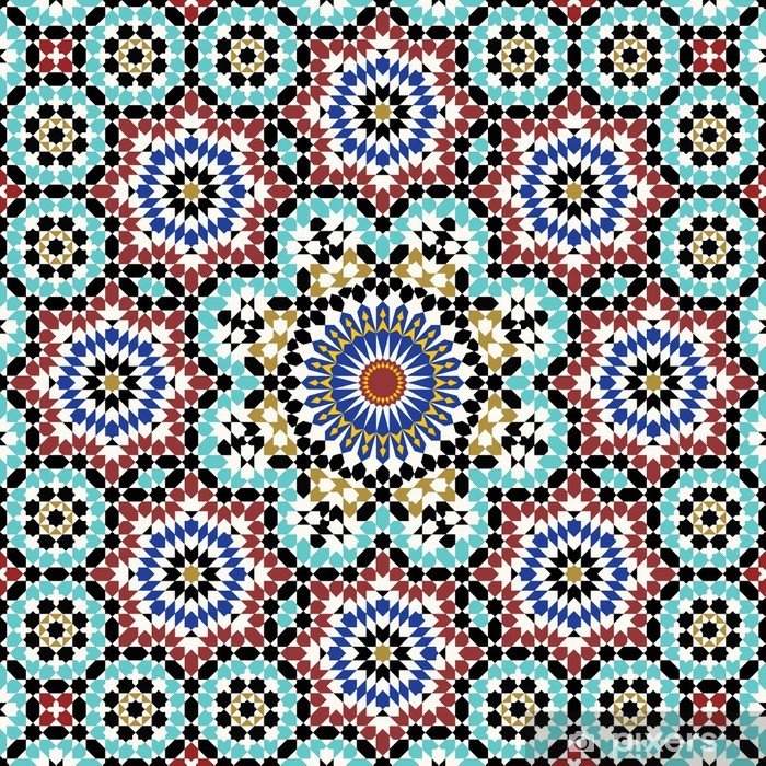 Anvar Moorish Pattern Vinyl Wall Mural - Mosaic