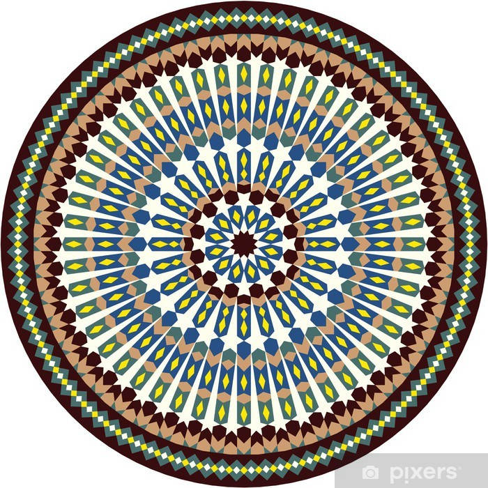 Papier peint vinyle Anvar mauresque étoiles Ornement - Afrique