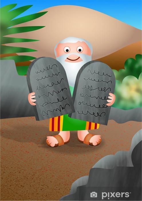 Naklejka Pixerstick Mojżesz i Dziesięć Przykazań - Inne