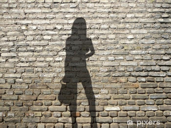 Carta da parati prostituta ombra sul muro di mattoni for Carta da parati muro di mattoni