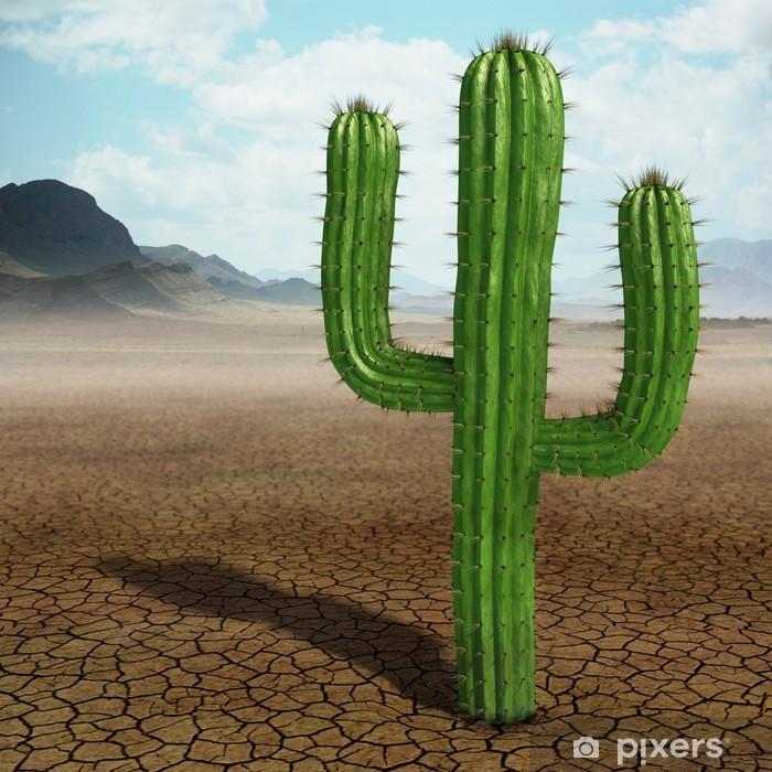 Pixerstick Sticker Cactus in de woestijn - Woestijn