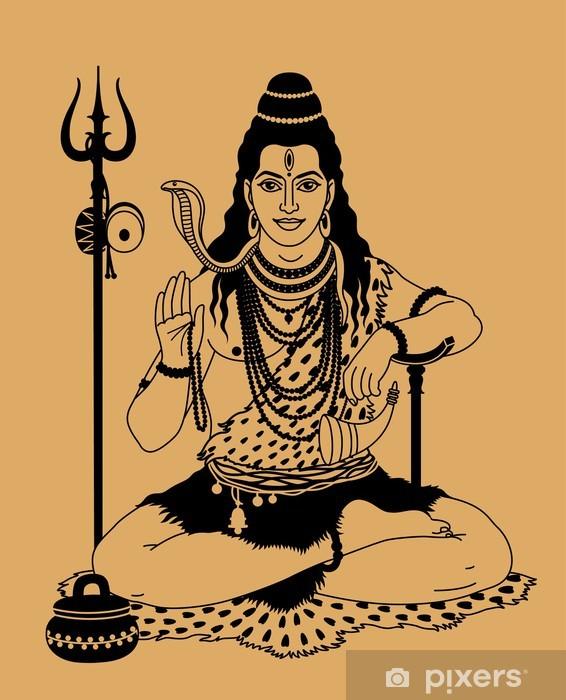 Naklejka Pixerstick Indyjski bóg Sziwa - Religie