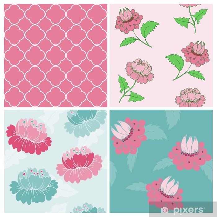 Papier peint vinyle Ensemble de Seamless Vintage Floral backgrounds - scrapbook et d - Célébrations