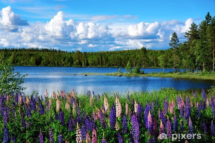 Fototapeta winylowa Scandinavian krajobraz lato - Tematy