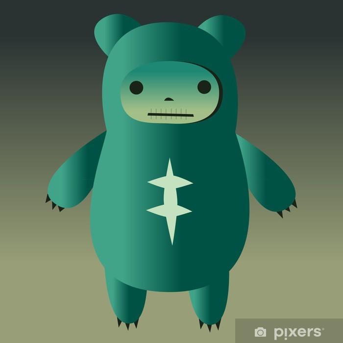 Cute Monster Pixerstick Sticker - Mammals