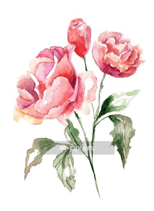 Naklejka na ścianę Piękne kwiaty - Tematy