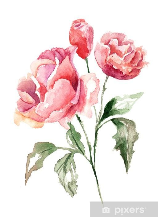 Sticker Pixerstick Belles fleurs - Thèmes