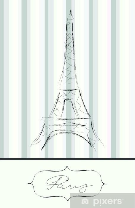 Naklejka Pixerstick Delicated karta Paris - Miasta europejskie