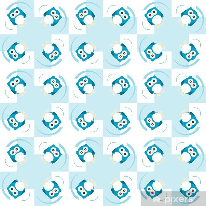 Sticker Pixerstick Seamless fond de hibou mignon - Célébrations