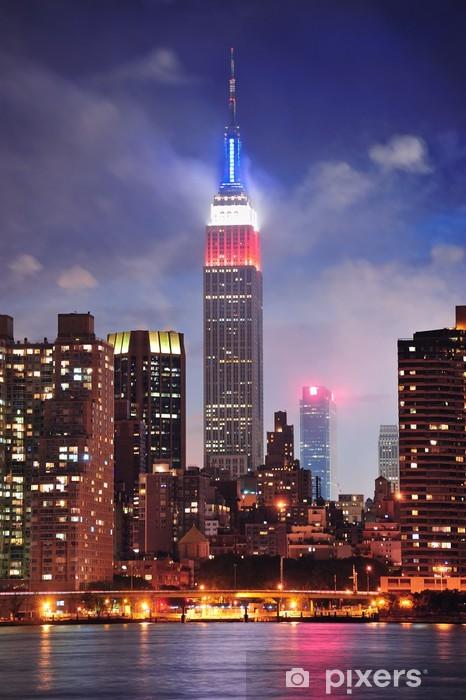 Fototapeta winylowa Empire State Building w nocy - Tematy