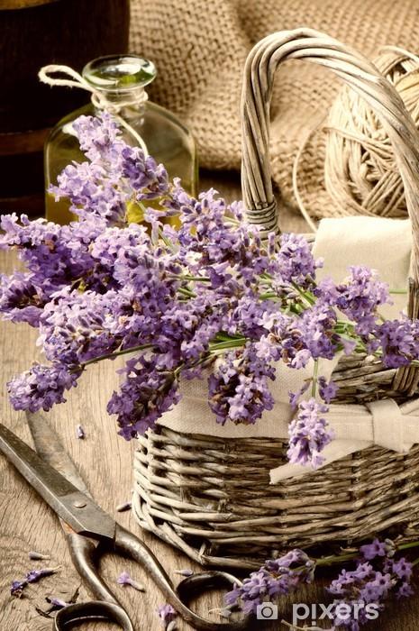 Sticker Pixerstick Bouquet de lavande fraîchement coupée - Thèmes