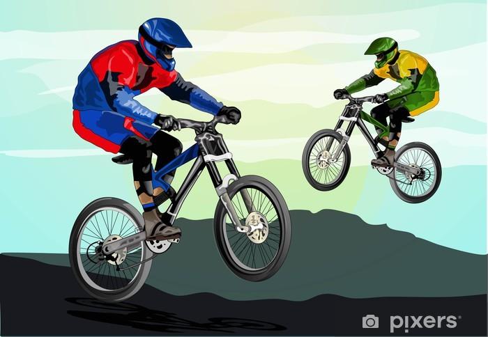 Fototapeta winylowa Freestyle rower górski - Kolarstwo