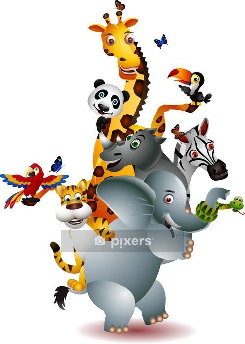 Sticker mural Une variété d'animaux mignons - Mammifères