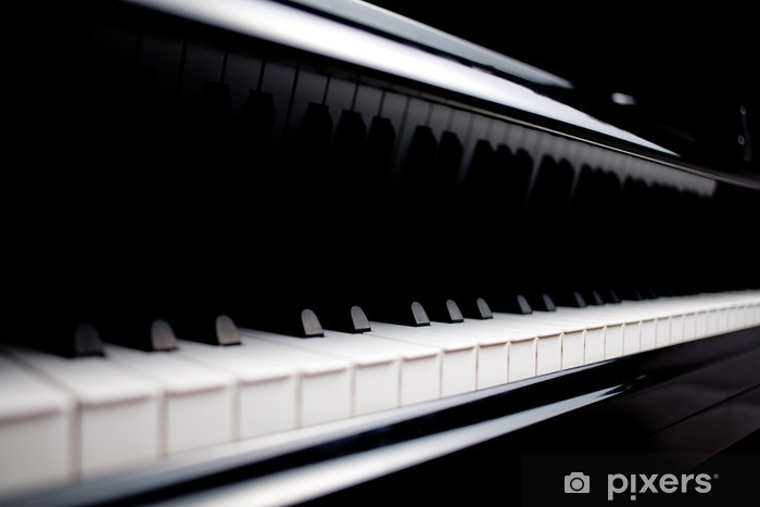 Vinyl-Fototapete Klassisches Klavier hautnah - Entertainment