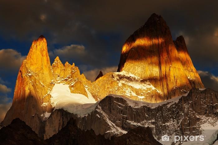 Pixerstick Aufkleber Mount Fitz Roy in Patagonien, Argentinien - Amerika